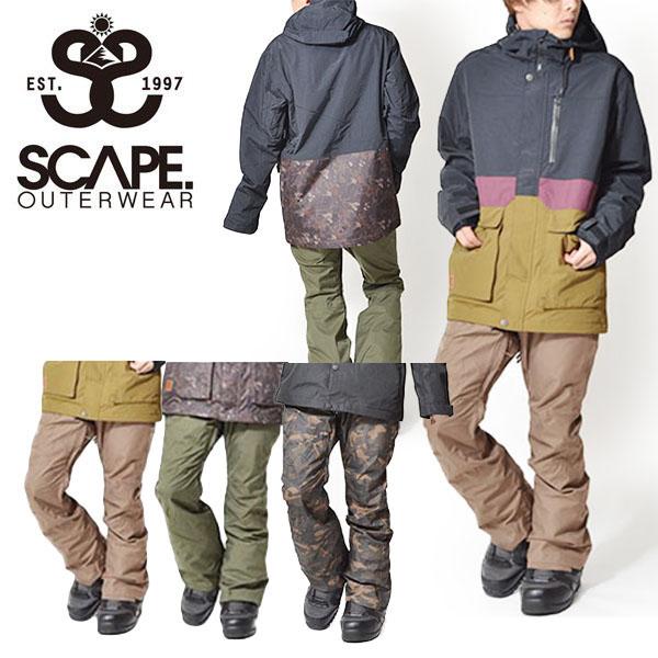 送料無料 スノーボードウェア SCAPE エスケープ FAZZ PANTS メンズ パンツ ファズ スノボ スノーボード スノーウェア ボトムス タイト スリム 35%off