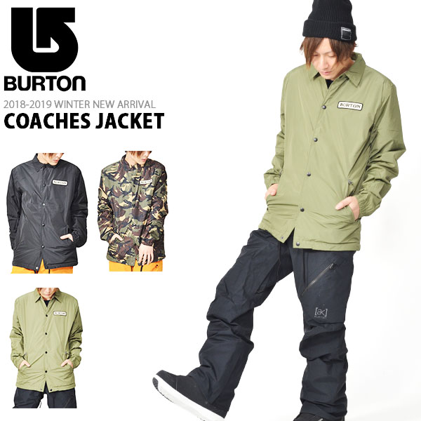 送料無料 コーチジャケット バートン BURTON COACHES JACKET メンズ ジャケット コーチ スノボ スノーボード スノーボードウエア スキー 2018-2019冬新作 18-19 18/19 10%off