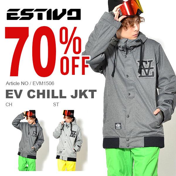 70%OFF Lサイズのみ 送料無料 スノーボードウェア エスティボ ESTIVO EV CHILL JKT メンズ ジャケット スノボ スノーボード スノーボードウエア SNOWBOARD WEAR スキー