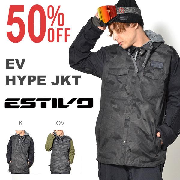 半額!! 送料無料 スノーボードウェア エスティボ ESTIVO EV HYPE JKT メンズ ジャケット スノボ スノーボード スノーボードウエア SNOWBOARD WEAR スキー 50%off