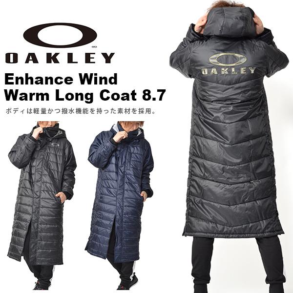 得割30 送料無料 ベンチコート OAKLEY オークリー メンズ Enhance Wind Warm Lng Coat 8.7 防寒 トレーニングウェア アウター スポーツ 観戦 日本正規品 2018秋冬新作
