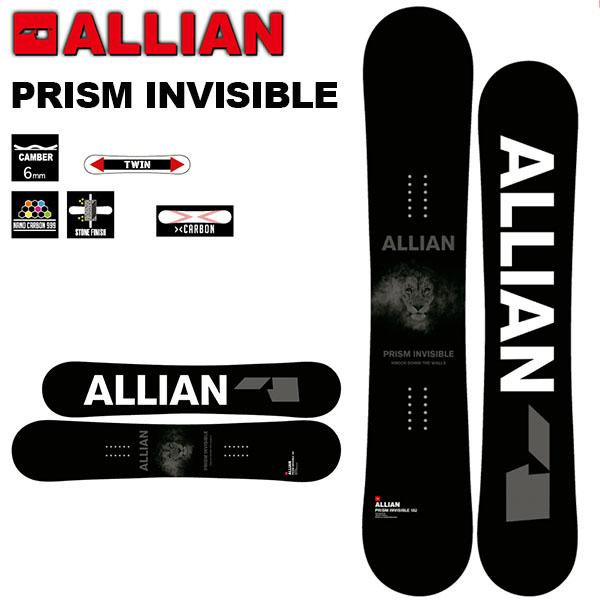 送料無料 スノー ボード 板 ALLIAN アライアン PRISM INVISIBLE キャンバー メンズ スノボ 紳士 150 152 155 オールラウンド 20%off