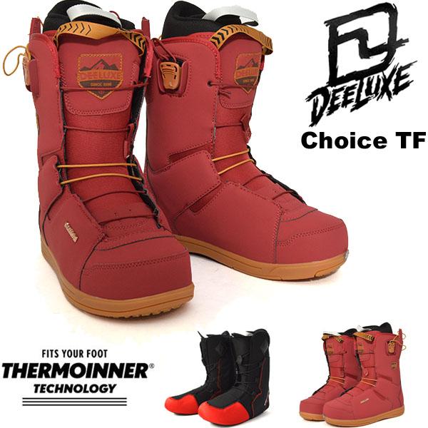 送料無料 ディーラックス DEELUXE スノーボード ブーツ CHOICE TF レディース スノボ TF サーモインナー SNOWBOARD 成型 熟成18/19 25%off