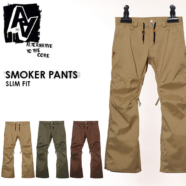 送料無料 スノーボードウェア AA HARDWEAR ダブルエー ハードウェア SMOKER PANTS メンズ パンツ SLIM FIT スノボ スノーボード スノーウェア ボトムス 25%off