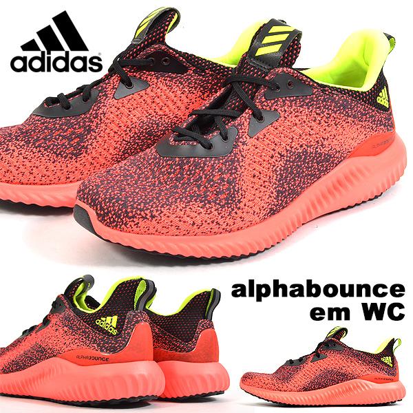 送料無料 ランニングシューズ アディダス adidas alphabounce em WC メンズ トレーニング マラソン ジョギング ランシュー シューズ 靴 スニーカー 2018秋冬新作 B27814