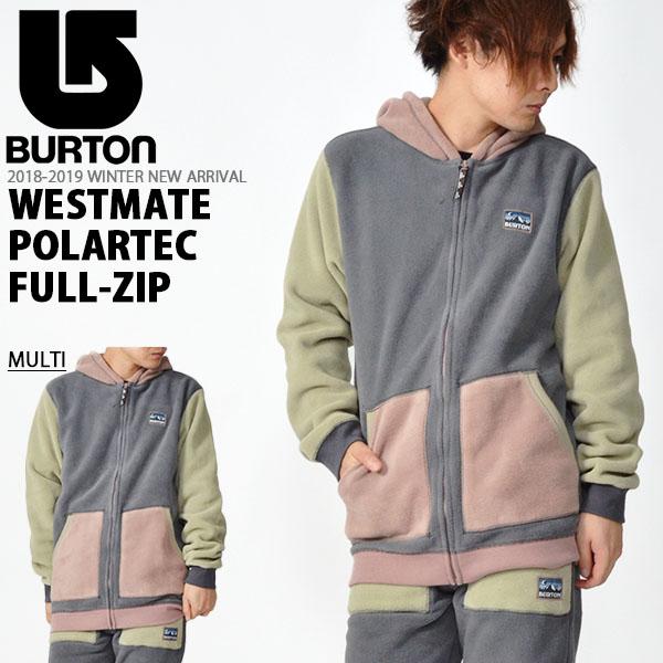 送料無料 長袖 パーカー バートン BURTON Westmate Polartec Full-Zip メンズ フルジップアップ パーカ フーディー ジャケット スノボ スノーボード SNOWBOARD WEAR スキー 2018-2019冬新作 18-19 18/19 10%off