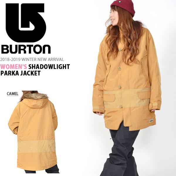 送料無料 スノーボードウェア バートン BURTON Women's SHADOWLIGHT PARKA JACKET レディース ジャケット スノボ スノーボード スノーボードウエア SNOWBOARD WEAR 2018-2019冬新作 18-19 18/19 10%off