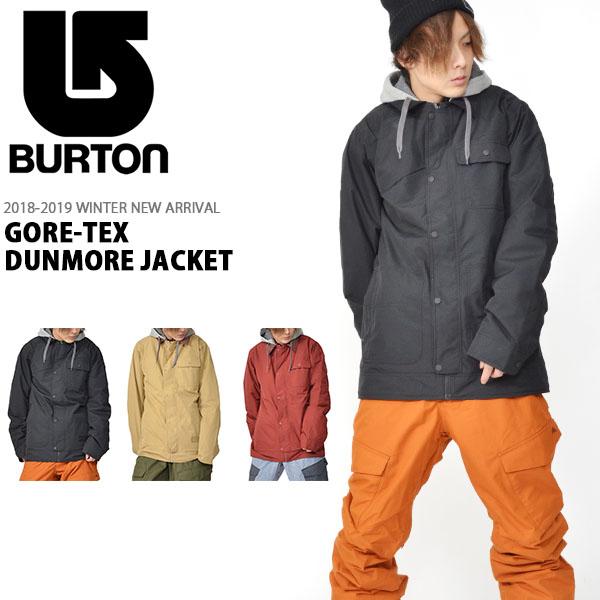 送料無料 スノーボードウェア バートン BURTON GORE-TEX DUNMORE JACKET メンズ ジャケット ゴアテックス スノボ スノーボード スノーボードウエア SNOWBOARD WEAR 2018-2019冬新作 18-19 18/19 10%off