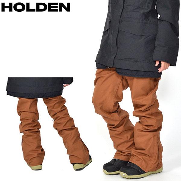 送料無料 スノーボードウェア HOLDEN ホールデン WS SKINNY STANARD PANTS レディース パンツ BISON BROWN ブラウン スノボ スノーボード ボトムス レディース 得割25