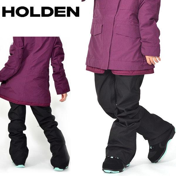 送料無料 スノーボードウェア HOLDEN ホールデン WS SKINNY STANARD PANTS レディース パンツ BLACK ブラック スノボ スノーボード ボトムス レディース 2018-2019冬新作 18-19 18/19 得割20