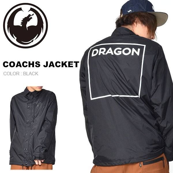 送料無料 コーチジャケット DRAGON ドラゴン COACHS JACKET ナイロンジャケット 防水 ジャケット アウター スノボ スノーボード20%off