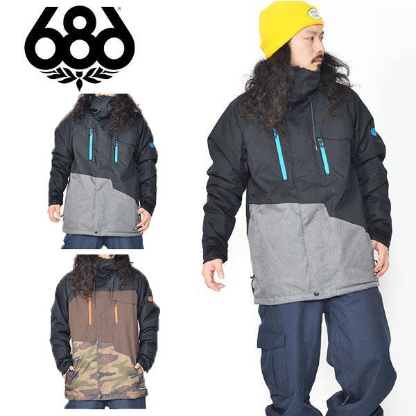 送料無料 スノーボードウェア 686 SIX EIGHT SIX シックスエイトシックス GEO JACKET メンズ ジャケット スノボ スノーボード スノーウェア 得割30