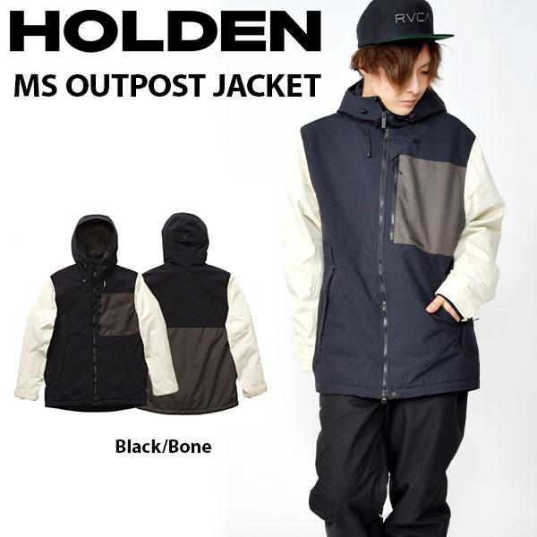 送料無料 スノーボードウェア HOLDEN ホールデン MS OUTPOST JACKET フィールド ジャケット メンズ ブラック BLACK ジャケット スノボ スノーボード スノーウェア 2018-2019冬新作 18-19 18/19 得割20