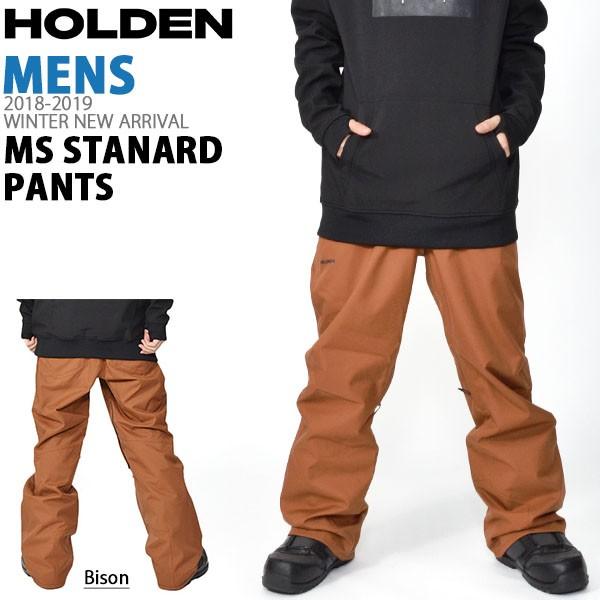 送料無料 スノーボードウェア HOLDEN ホールデン MS STANDARD PANTS メンズ パンツ BISON BROWN ブラウン スノボ スノーボード ボトムス メンズ 2018-2019冬新作 18-19 18/19 得割20