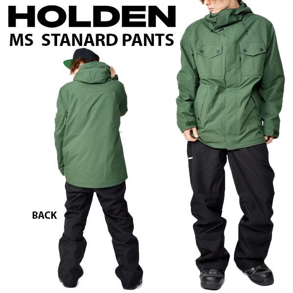 送料無料 スノーボードウェア HOLDEN ホールデン MS STANDARD PANTS メンズ パンツ BLACK ブラック スノボ スノーボード ボトムス メンズ 2018-2019冬新作 18-19 18/19 得割20