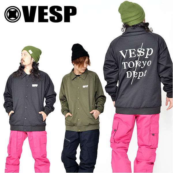 送料無料 スノーボードウェア VESP ベスプ COACH JACKET コーチ ジャケット スノボ スノーボード メンズ レディース ユニセックス18/19 30%off