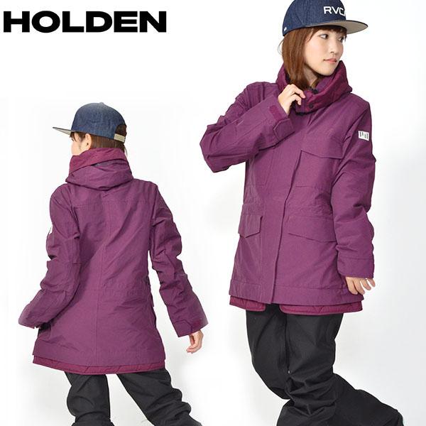 送料無料 スノーボードウェア HOLDEN ホールデン WS M-65 FIELD JACKET フィールド ジャケット レディース ジャケット Sangria PURPLE パープル スノボ スノーボード スノーウェア ガール 得割25