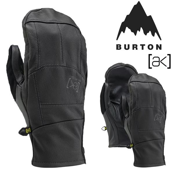 送料無料 メンズ ミトン グローブ バートン BURTON ak Leather Tech Mitten レザー 手袋 スノボ スノーボード スマホ対応 スマートフォン対応 タッチパネル スキー 20%off