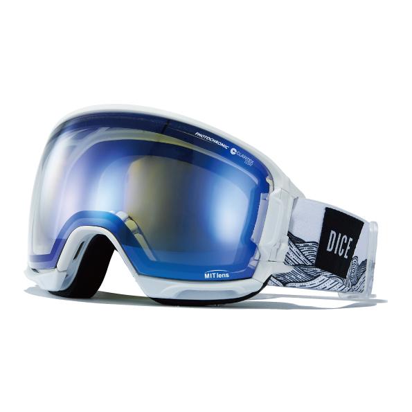 送料無料 スノーゴーグル DICE ダイス HIGH ROLLER ハイローラー プレミアムアンチフォグ 調光 レンズ 日本正規品 ユニセックス スノボ スノー ゴーグル 球面レンズ 20%off