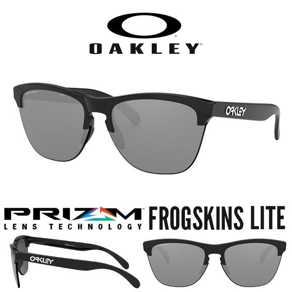 送料無料 サングラス OAKLEY オークリー FROGSKINS LITE フロッグスキン ライト Prizm Black プリズム レンズ 日本正規品 スタンダードフィット 眼鏡 アイウェア oo9374 1063