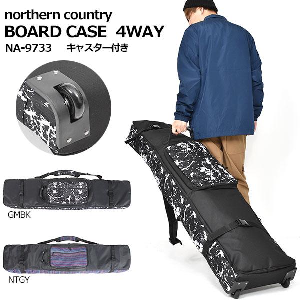 送料無料 キャスター付き スノーボード ケース 3WAY スノボ バッグ Northern Country ノーザンカントリー ボードバッグ 全面パッド入り 160cm 150cm 得割35