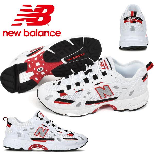【すぐ使える100円割引クーポン配布中!】 送料無料 スニーカー ニューバランス new balance ML827 メンズ カジュアル シューズ 靴 ホワイト レッド 白 赤 2020夏新作 得割10