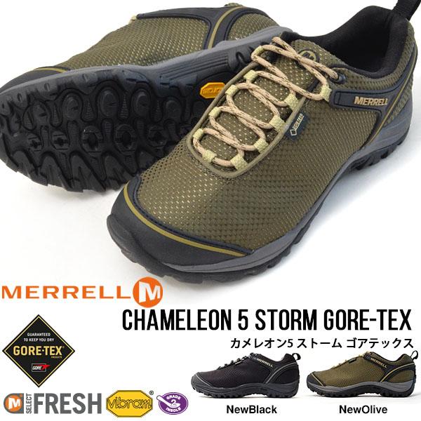 送料無料 アウトドア シューズ メレル MERRELL CHAMELEON5 STORM GORE-TEX メンズ カメレオン5 ストーム ゴアテックス M575499 トレッキング 登山 靴 10%off