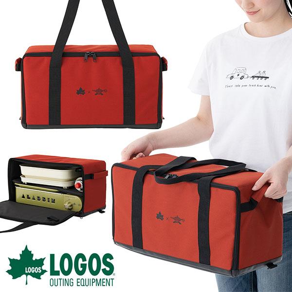 キャリーバッグ グランピング プチパン バッグ LOGOS×SENGOKU ガス BBQ ALADDIN バーベキュー アウトドア 送料無料 ケース ロゴス 81060013 キャンプ ホットプレート 収納ケース