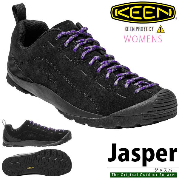 送料無料 アウトドア スニーカー KEEN キーン レディース JASPERP ジャスパー 1017362 BLACK ブラック 黒 クライミング ハイキング アウトドアスニーカー 靴 シューズ ハイブリッド