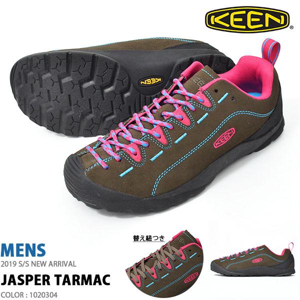 送料無料 スニーカー KEEN キーン メンズ JASPER ジャスパー Tarmac 1020304 替え紐つき クライミング アウトドア ハイキング フェス シューズ 靴 2019春夏新作