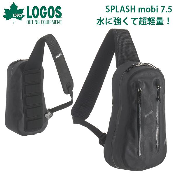 送料無料 ロゴス LOGOS SPLASH mobi ワンショルダー ブラックカモ メンズ 7.5L 防水 超軽量 ボディバッグ ワンショルダーバッグ 斜めがけバッグ ショルダーバッグ バッグ アウトドア レジャー ハイキング