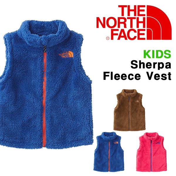 送料無料 キッズ モコモコ フリース ベスト ジャケット THE NORTH FACE ザ・ノースフェイス Sherpa Fleece Vest シェルパフリースベスト 子供 2018秋冬新色 naj71727