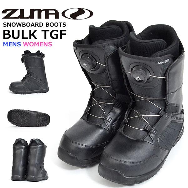 送料無料 エントリーモデル ZUMA ツマ スノーボード ブーツ スノボ BULK TGF ダイヤル式 メンズ レディース スノーブーツ 初心者