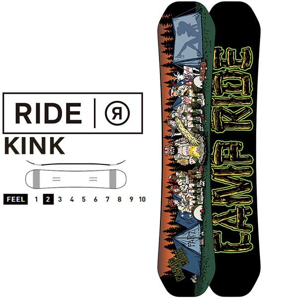 送料無料 RIDE ライド KINK キンク スノーボード スノボ 板 ボード デッキ メンズ ツイン ハイブリッド キャンバー 147 151 得割55