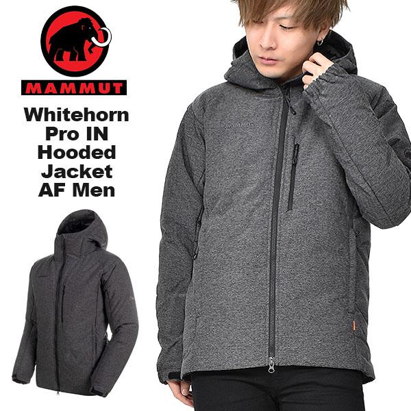 30%off 現品のみ 送料無料 ダウンジャケット MAMMUT マムート メンズ Whitehorn Pro IN Hooded Jacket AF Men アウター ダウン 防寒 アウトドア 登山 ハイキング ブラック メランジ
