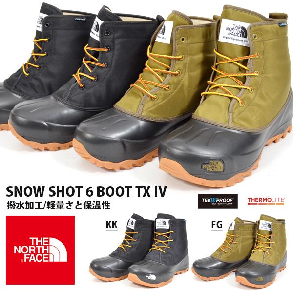 送料無料 ザ・ノースフェイス THE NORTH FACE メンズ レディース Snow Shot 6 Boot TX IV スノーショット6 ブーツ テキスタイル4 ショートブーツ ウインターブーツ スノーブーツ スノトレ 防水 シューズ 靴 nf51860 ザ ノースフェイス 2018秋冬新作