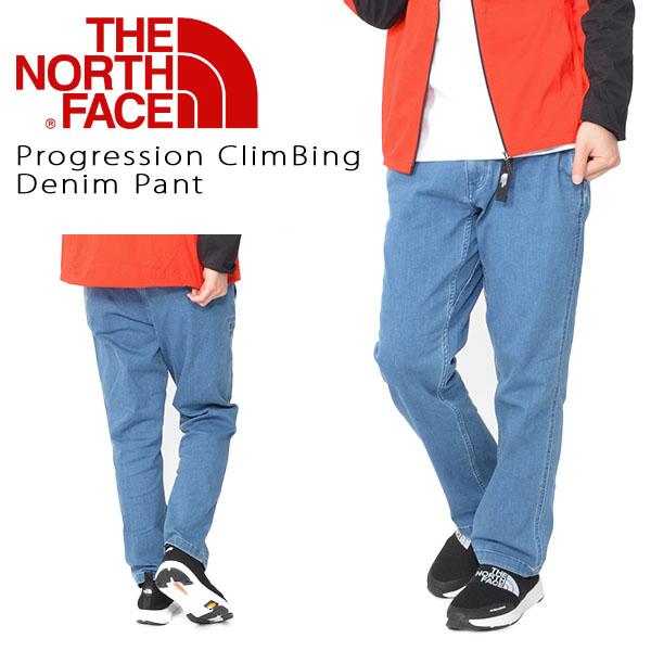 送料無料 クライミング デニムパンツ THE NORTH FACE ザ・ノースフェイス メンズ Progression ClimBing Denim Pant プログレッション クライミング デニム パンツ ストレッチ nb31937 ジーンズ