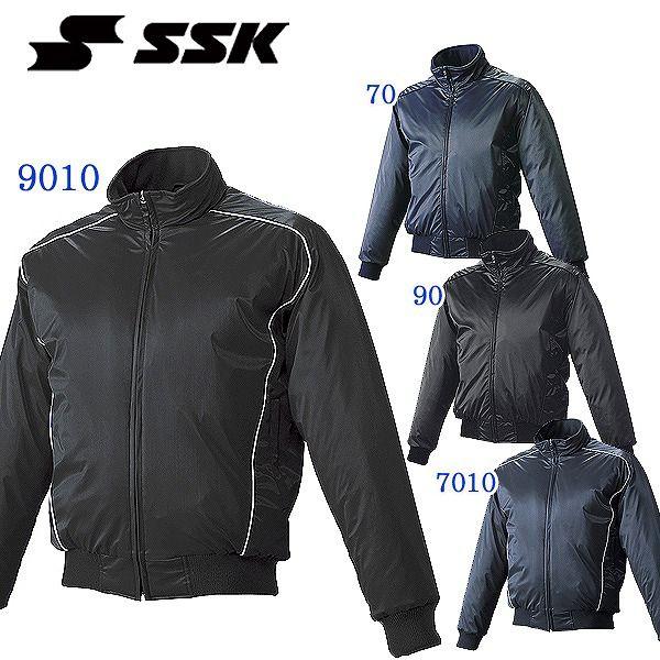 SSK エスエスケイ メンズ 蓄熱 グラウンドコート フロントフルZIP 中綿 野球 ベースボール ジャケット ウェア 得割25 送料無料