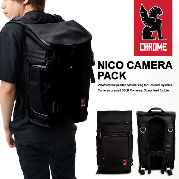 送料無料 バックパック クローム CHROME カメラバッグ NIKO PACK メンズ シートベルト ショルダー ニコ パック カメラケース アウトドア ミリタリー