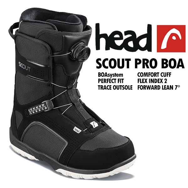 送料無料 head ヘッド スノーボード ブーツ SCOUT PRO BOA black 353318 メンズ 紳士 ボア スノボ 国内正規代理店品 得割52