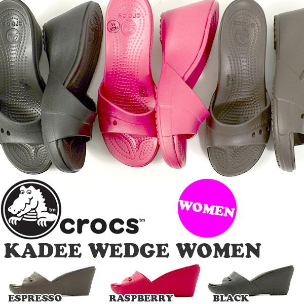 钟表crocs kadiuejji KADEE WEDGE WOMEN女士凉鞋楔子鞋底楔子鞋跟鞋鞋国内正规代理店品14102