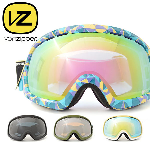 50%off 半額 送料無料 スノーゴーグル VONZIPPER ボンジッパー メンズ レディース FEENOM N.L.S. レンズ 球面レンズ スノーボード スノボ スキー スノー ゴーグル AF21M-702 日本正規品