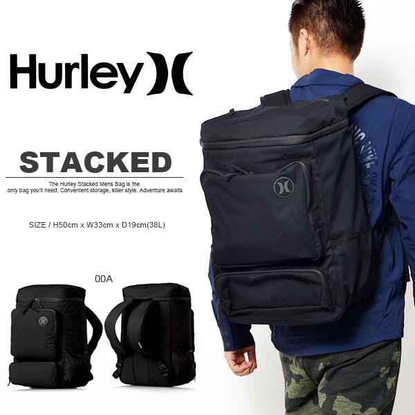 帆布背包背包HURLEY哈雷STACKED BACKPACK人冲浪冲浪身体板游泳池海水浴野外节日2016冬天新作品BAG包AMBASTK