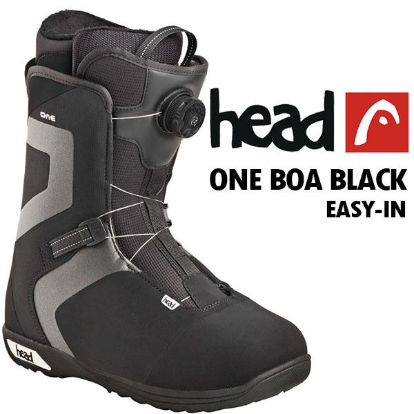 2017-2018冬新作 17-18 送料無料 head ヘッド スノーボード ブーツ ONE BOA BLACK 350507 メンズ 紳士 ボア スノボ 国内正規代理店品 得割40