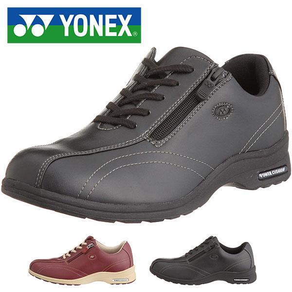 伸縮素材でフィット感抜群! ウォーキングシューズ YONEX ヨネックス レディース パワークッションLC30 ファスナー付き 軽量 幅広 ワイド 3.5E 定番 スニーカー 婦人靴 SHW-LC30 得割23 送料無料
