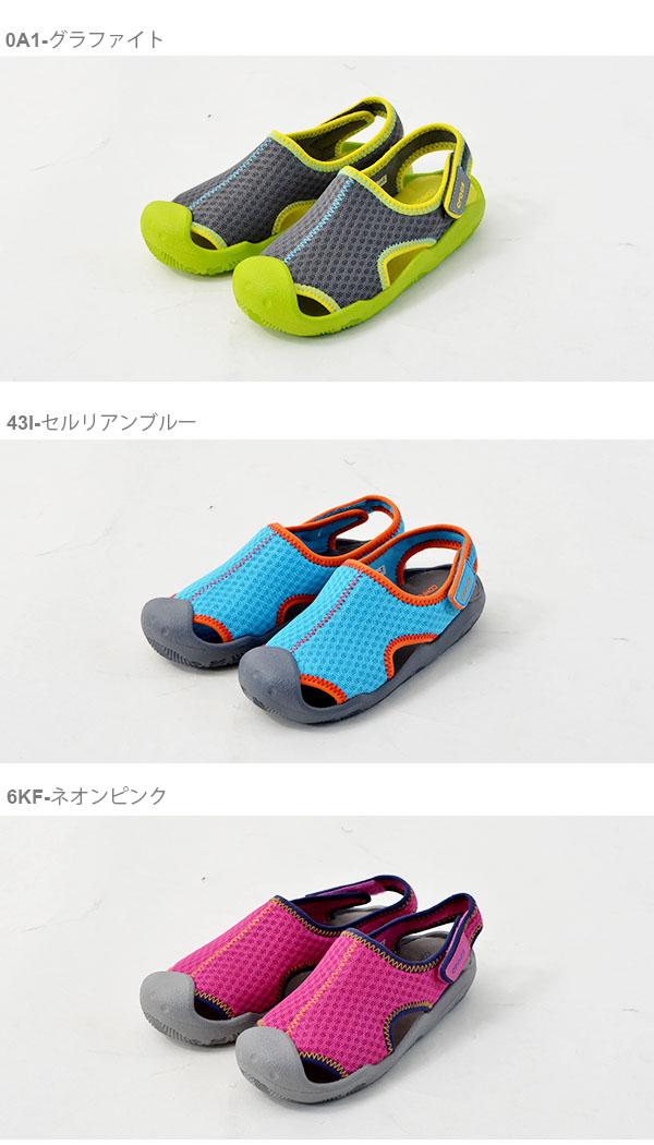 ピンク19.5cmクロックスCROCSスウィフトウォーターサンダルキッズ水陸両用ウォーターサンダルスポーツサンダルアウトドアシューズ靴アクア204024日本正規品