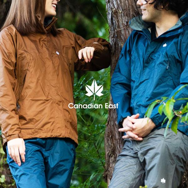 送料無料 上下セット レインウェア カナディアンイースト Cnadian East メンズ レインスーツ カッパ 雨合羽 登山 トレッキング ハイキング アウトドア キャンプ