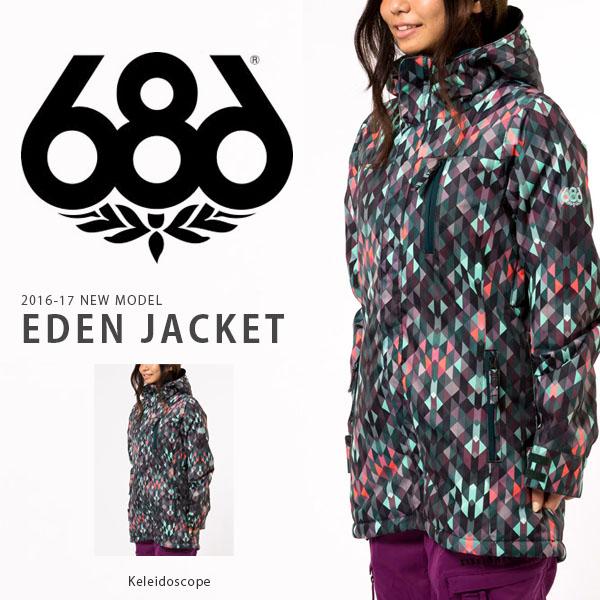 送料無料 スノーボードウェア 686 SIX EIGHT SIX シックスエイトシックス AUTHENTIC EDEN JACKET レディース ジャケット スノボ スノーボード スノーウェア 得割35