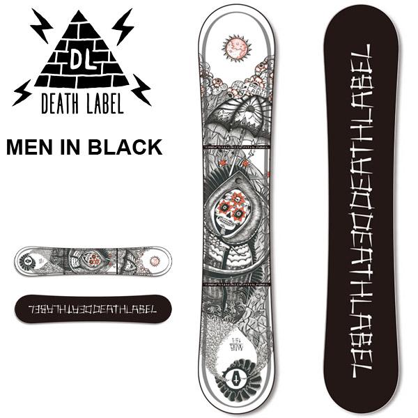 送料無料 スノー ボード 板 DEATH LABEL デスレーベル MEN IN BLACK メンズ スノーボード スノボ 紳士用 パーク 150 153 2017-2018冬新作 17-18 30%off