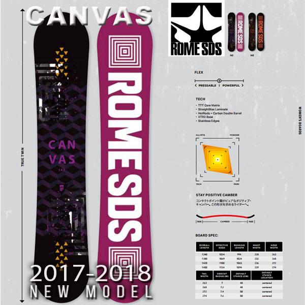 送料無料 スノーボード 板 ROME SDS ローム CANVAS レディース スノボ スノー ボード キャンバー フリーラン パーク 142 145 40%off
